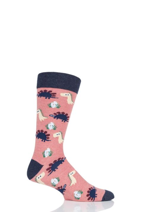 1 Pair Moustard Dinos Chilling Cotton Socks Product Image