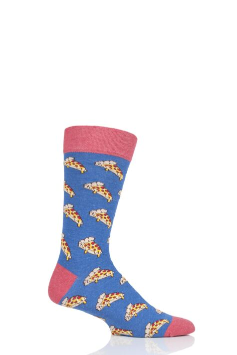 1 Pair Moustard Pizza Cotton Socks Product Image