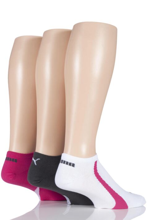 Mens and Ladies 3 Pair Puma Ring Sneaker Socks Product Image