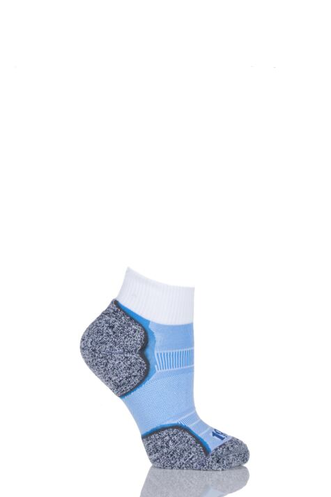 Ladies 1 Pair 1000 Mile Breeze Double Layered Ankle Socks with Nilit Breeze Technology Product Image