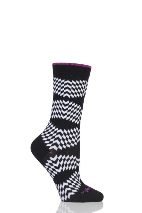 Ladies 1 Pair Burlington Mirror Illusion Cotton Socks Product Image