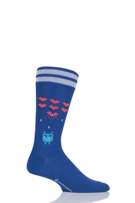 Mens 1 Pair Burlington Heartbreaker Computer Game Cotton Socks Product Image
