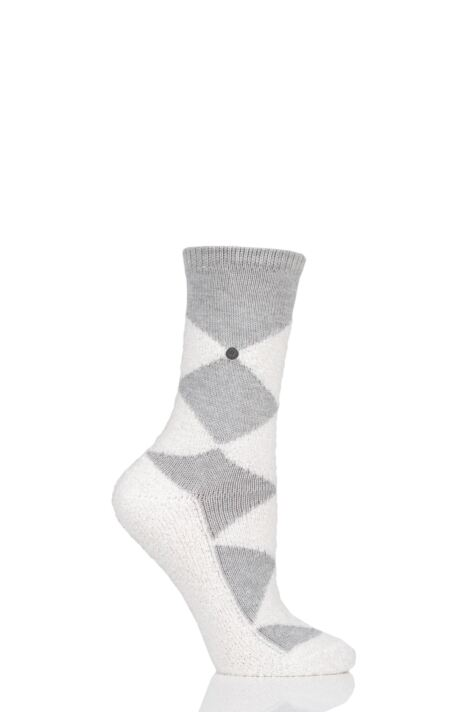 Ladies 1 Pair Burlington Fringes Fluffy Argyle Socks Product Image