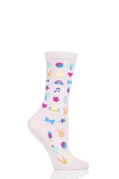 Ladies 1 Pair Burlington Festival Fun Cotton Socks Product Image