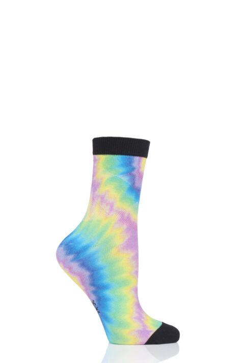 Ladies 1 Pair Burlington Hippie Girl Tie Dye Cotton Socks Product Image
