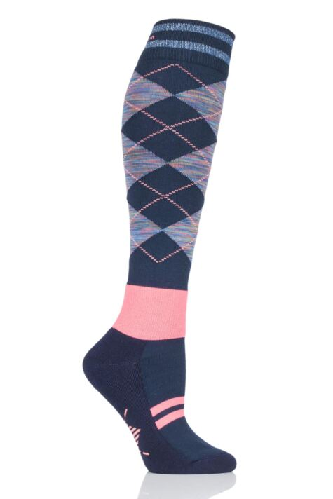 Ladies 1 Pair Burlington Rider Girl Knee High Riding Socks Product Image