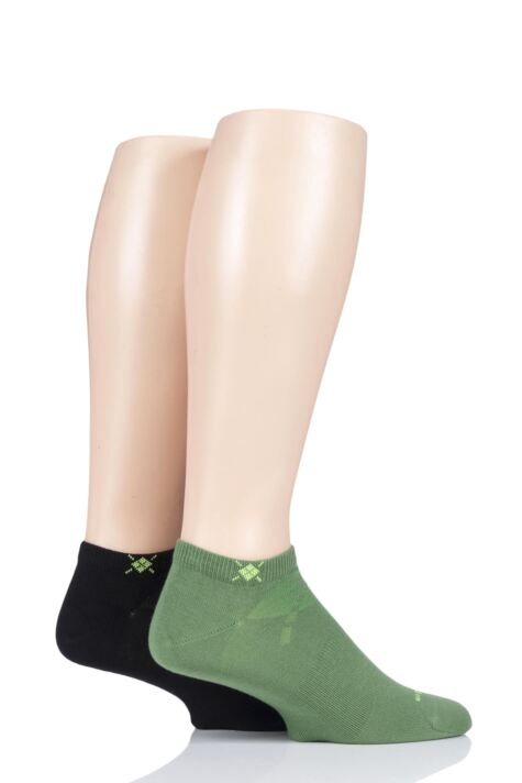 Mens 2 Pair Burlington Everyday Cotton Trainer Socks Product Image