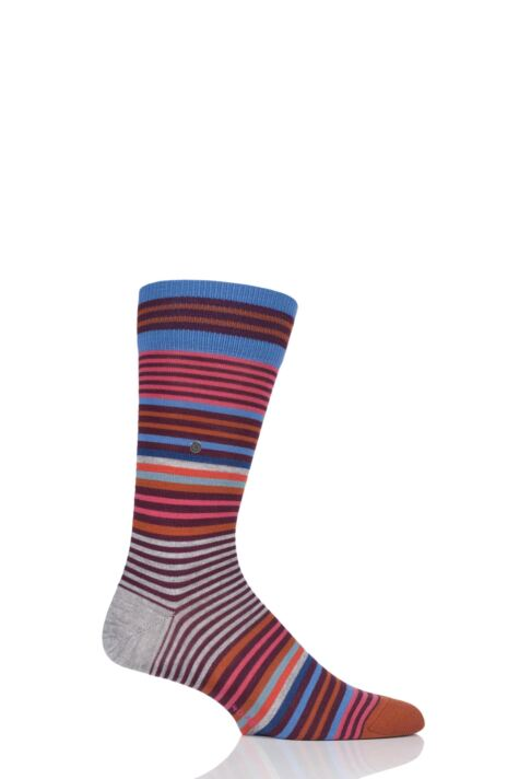 Mens 1 Pair Burlington Stripe Wool Socks Product Image