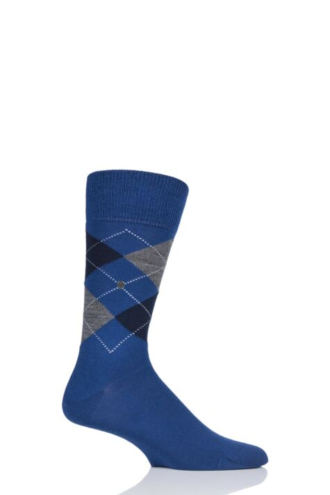 Mens 1 Pair Burlington Edinburgh Virgin Wool Argyle Socks Product Image