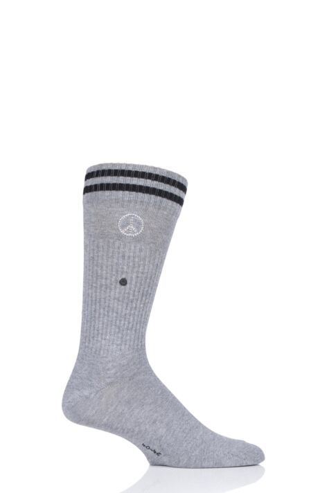 Mens 1 Pair Burlington Peace Man Cotton Socks Product Image