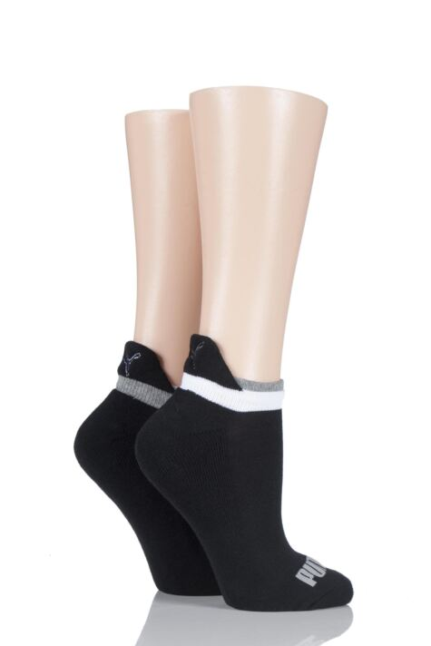 Ladies 2 Pair Puma Jet Cat Sneaker Running Socks Product Image
