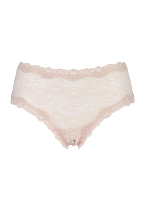 Ladies 1 Pair Kinky Knickers Nottingham Lace Classic Knicker In Oyster Product Image