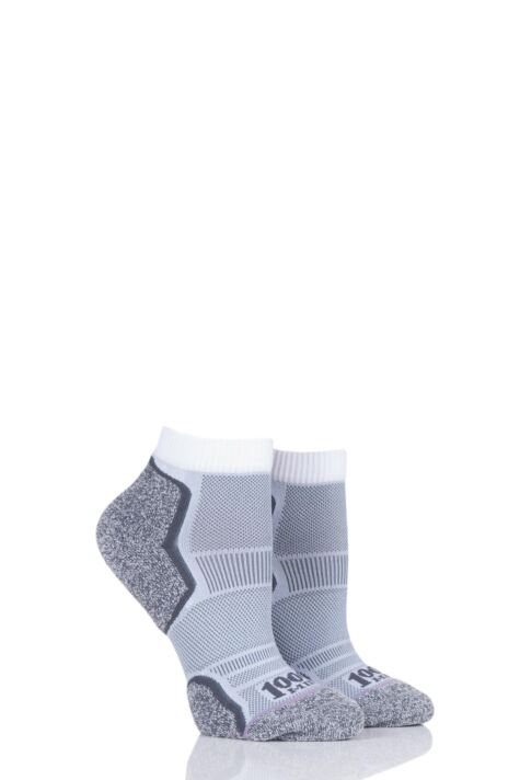Mens and Ladies 2 Pair 1000 Mile Run Anklet Socks Product Image