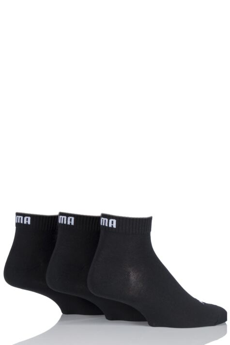 Mens and Ladies 3 Pair Puma Training Quarter Socks Product Image