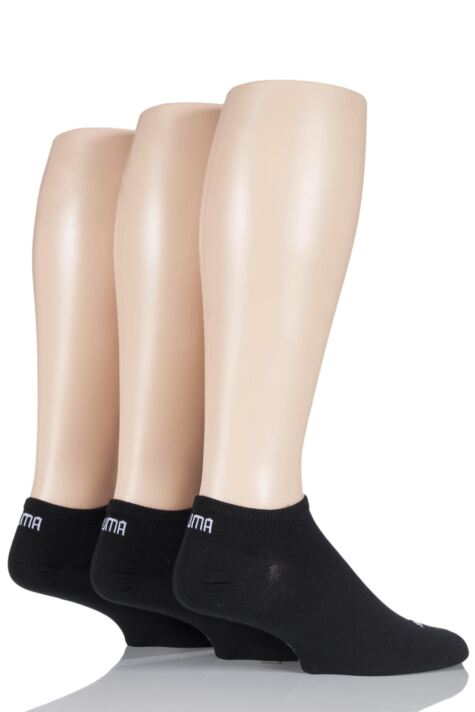 Mens and Ladies 3 Pair Puma Invisible Sneaker Socks Product Image