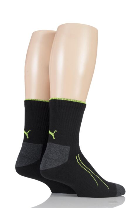 Mens and Ladies 2 Pair Puma Performance All Sport Crew Socks with Coolmax Product Image