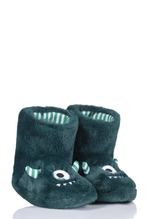 Kids 1 Pair Totes Monster Slippers Product Image