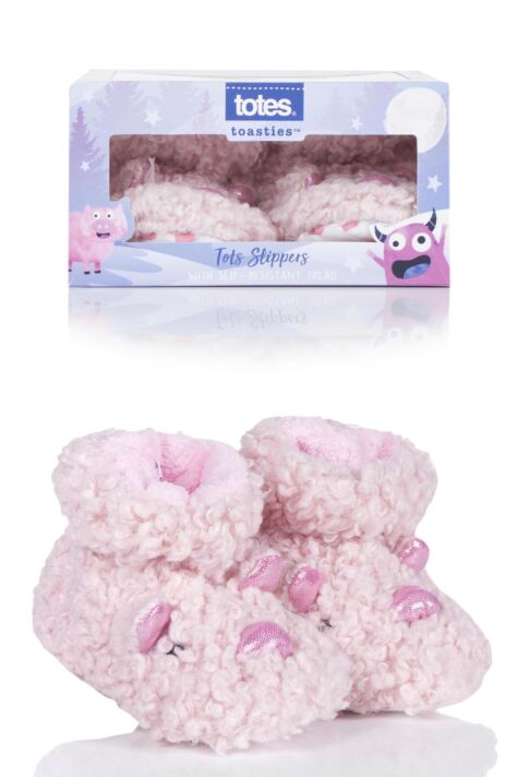 Girls 1 Pair Totes Animal Padders Slipper Socks Product Image