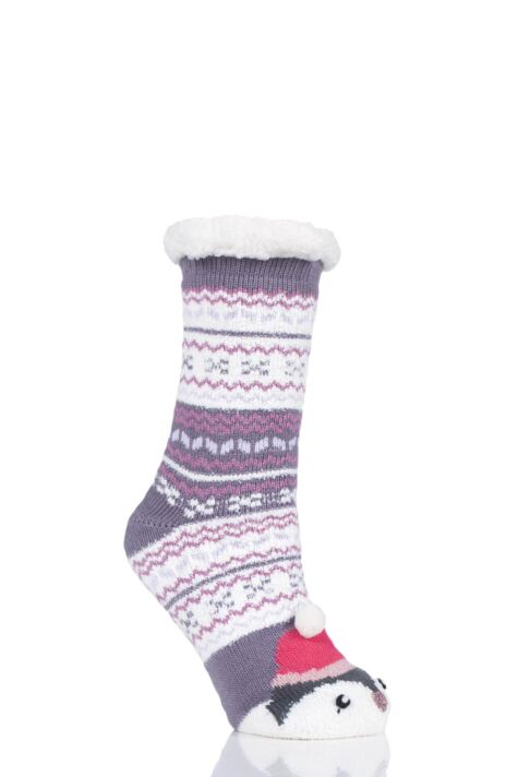Ladies 1 Pair Totes Novelty Chunky Lined Socks Product Image