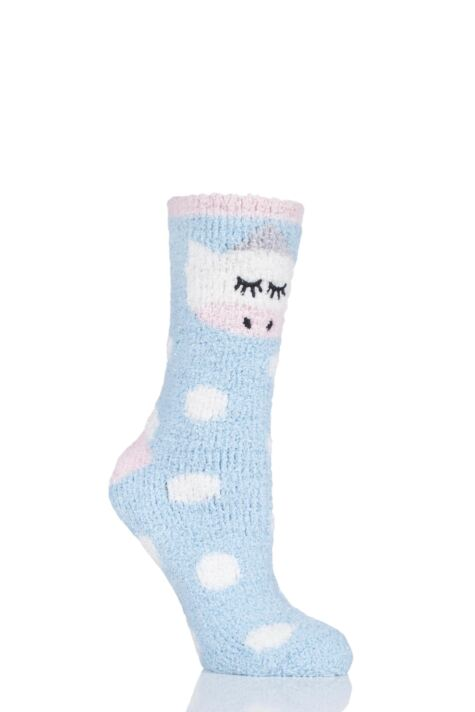 Ladies 1 Pair Totes Cosy Novelty Slipper Socks Product Image