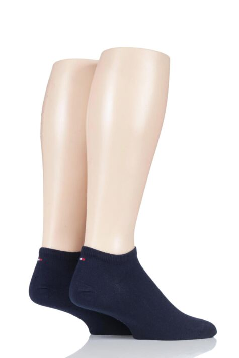 Mens 2 Pair Tommy Hilfiger Plain Cotton Sneaker Socks Product Image