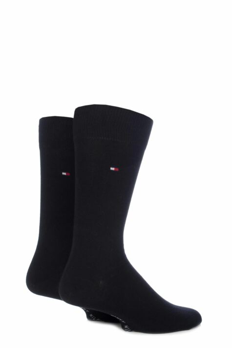 Mens 2 Pair Tommy Hilfiger Classic Plain Cotton Socks Product Image