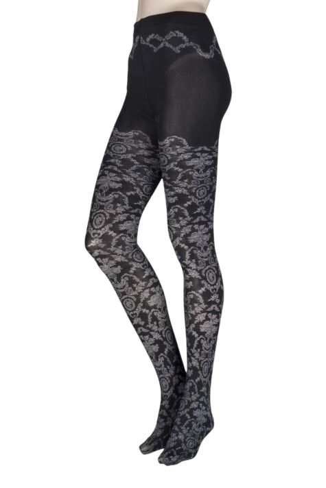 Ladies 1 Pair Falke Toile De Jouy Opaque Tights Product Image