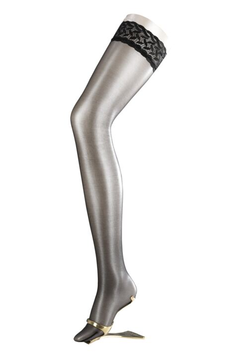 Ladies 1 Pair Falke Shelina 12 Denier Ultra Transparent Hold Ups With Shimmer Product Image