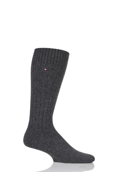 Mens 1 Pair Tommy Hilfiger Cashmere Ribbed Socks Product Image