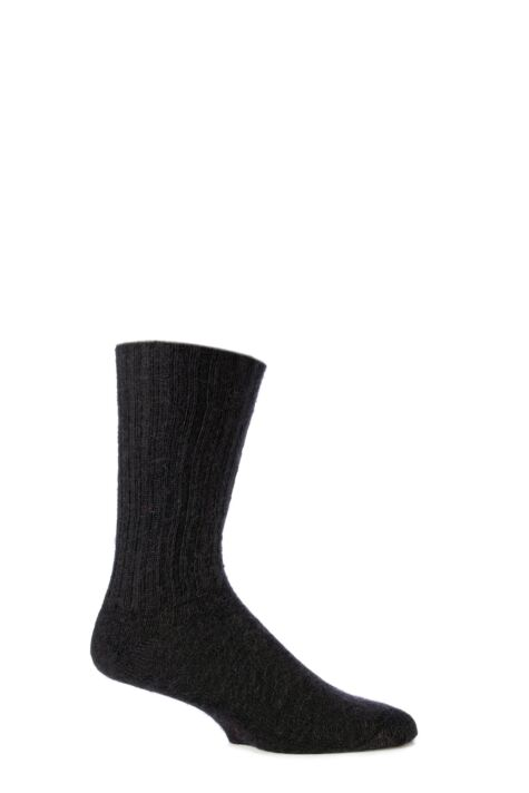 Mens and Ladies 1 Pair SOCKSHOP of London Mohair Ribbed Socks With Cushioning Product Image