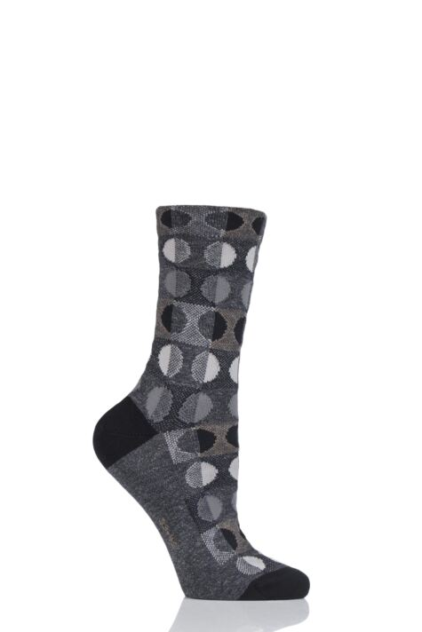 Ladies 1 Pair Falke Large Dots Cotton Blend Socks Product Image