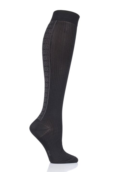 Ladies 1 Pair Falke Witchcraft Knee High Socks Product Image