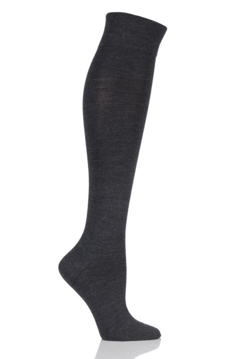 Ladies 1 Pair Falke Sensitive Berlin Merino Wool Left And Right Knee High Socks Product Image
