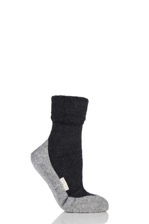 Ladies 1 Pair Falke CosyShoe Slipper House Socks Product Image