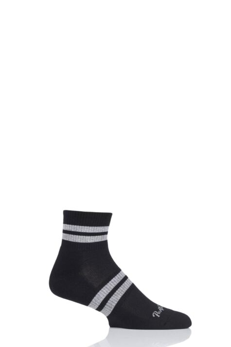 Mens 1 Pair Pantherella Sport Luxe Spark Quarter Socks Product Image