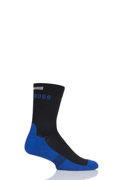 Mens 1 Pair BOSS Performance Sportswear Coolmax Crew Socks Product Image