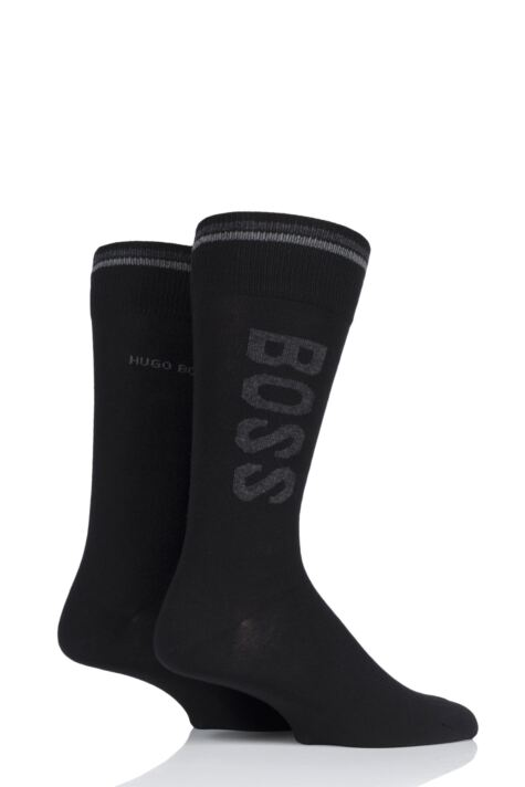 Mens 2 Pair BOSS Combed Cotton Boss Logo Socks Product Image