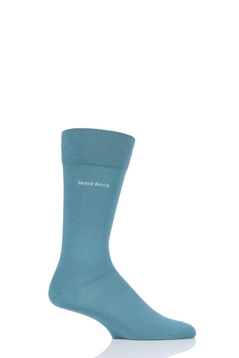 Mens 1 Pair BOSS Marc Plain 98% Combed Cotton Socks Product Image