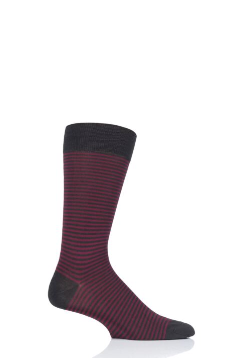 Mens 1 Pair Pantherella Farringdon Classic Stripe Cotton Lisle Socks Product Image