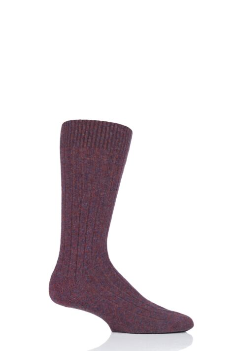 Mens 1 Pair Pantherella 85% Cashmere Rib Socks Product Image