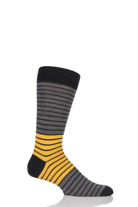 Mens 1 Pair Richard James Strathaird Colour Block Merino Wool Socks Product Image