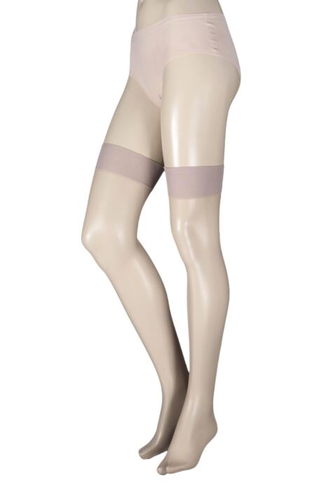 Ladies 1 Pair Pretty Legs 15 Denier Back Seam Stockings Product Image
