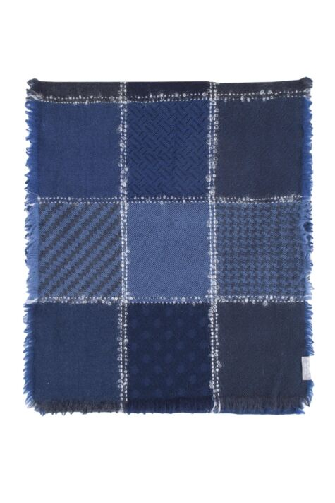 Fraas 100% Virgin Wool Blend Patchwork Scarf Product Image