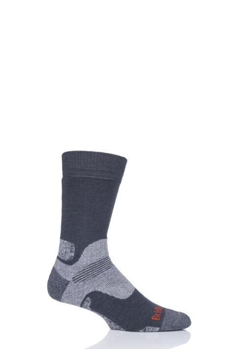 Mens 1 Pair Bridgedale Mid Weight Merino Wool Hiking Socks Product Image