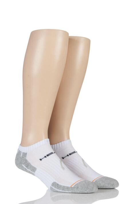 Mens 2 Pair Head Performance Sport Sneaker Socks In White Product Image