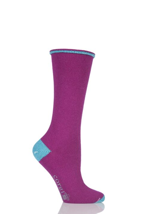 Ladies 1 Pair Corgi Cashmere and Cotton Tipped Socks Product Image