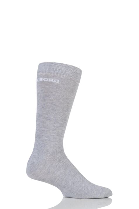 Mens 1 Pair Bjorn Borg Plain Cotton Socks with Logo Product Image