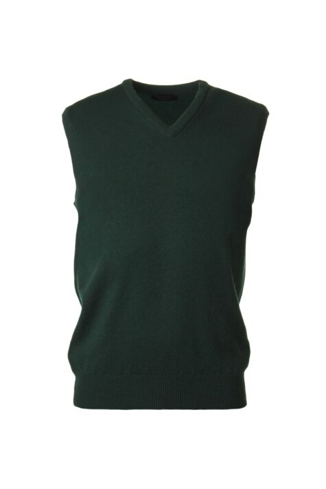 Mens Great & British Knitwear 100% Lambswool Plain V Neck Slipover Product Image