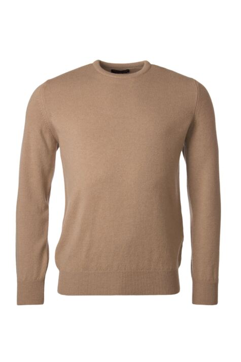 Mens Great & British Knitwear 100% Lambswool Plain Crew Neck Jumper Browns and Greens Product Image