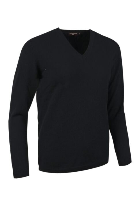 Ladies Great & British Knitwear Made In Scotland 100% Cashmere V Neck Blacks and Greys Product Image